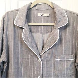 UGG Intimates & Sleepwear - UGG Australia gray cotton pajama button down shirt